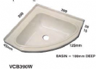 CORNER BOWL - WHITE HIPS 390 mm